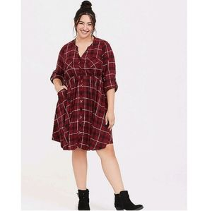 Good Condition Torrid Plaid Dress